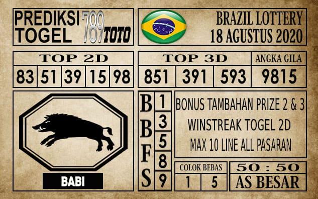 Prediksi Brazil Lottery Hari Ini 18 Agustus 2020