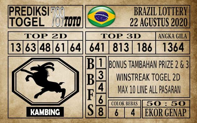 Prediksi Brazil Lottery Hari Ini 22 Agustus 2020