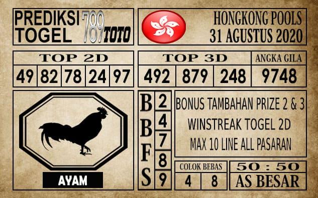 Prediksi Hongkong Pools Hari Ini 31 Agustus 2020