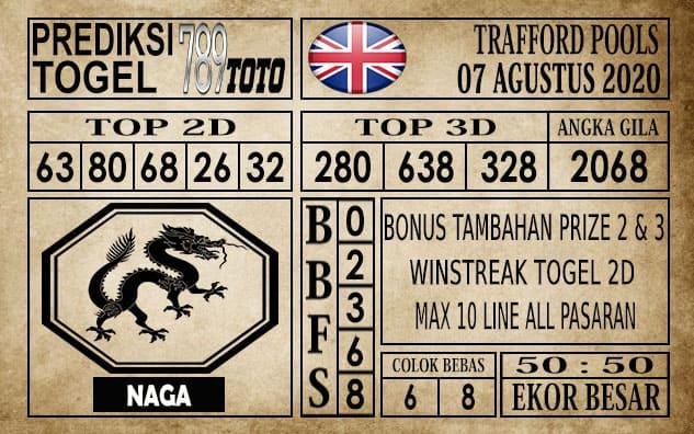 Prediksi Trafford Pools Hari Ini 07 Agustus 2020