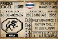 Prediksi Thailand Lottery Hari Ini 16 Agustus 2020