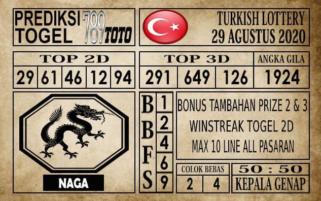 Prediksi Turkish Lottery Hari ini 29 Agustus 2020