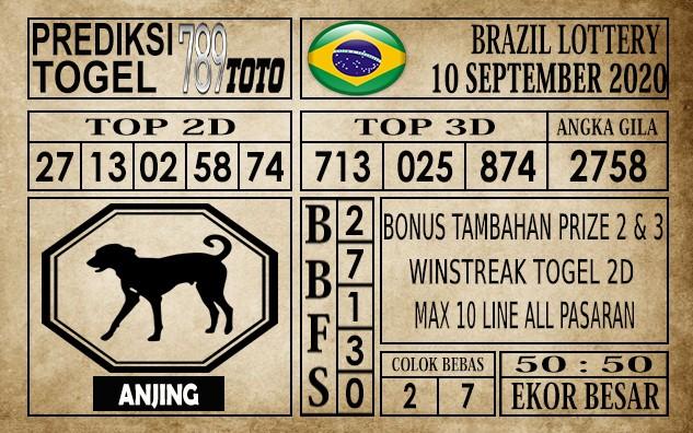Prediksi Brazil Lottery Hari Ini 10 September 2020