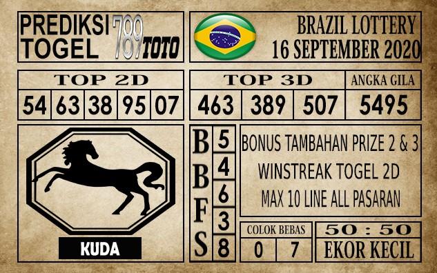 Prediksi Brazil Lottery Hari Ini 16 September 2020
