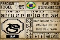 Prediksi Brazil Lottery Hari Ini 22 September 2020