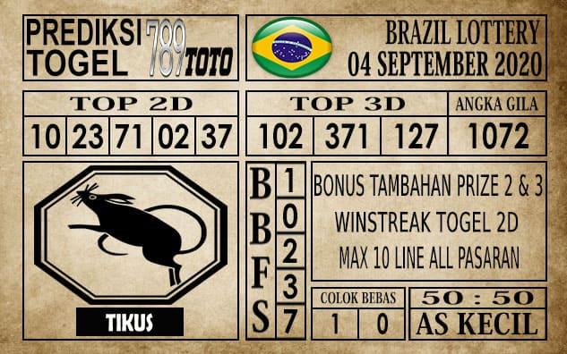 Prediksi Brazil Lottery Hari Ini 04 September 2020