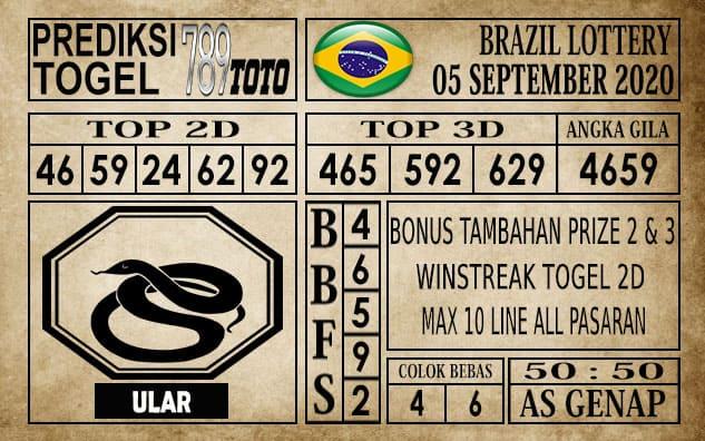 Prediksi Brazil Lottery Hari Ini 05 September 2020