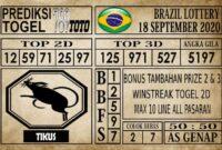 Prediksi Brazil Lottery Hari Ini 18 September 2020