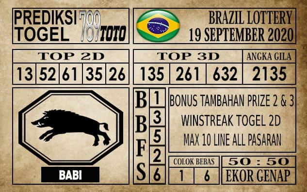 Prediksi Brazil Lottery Hari Ini 19 September 2020