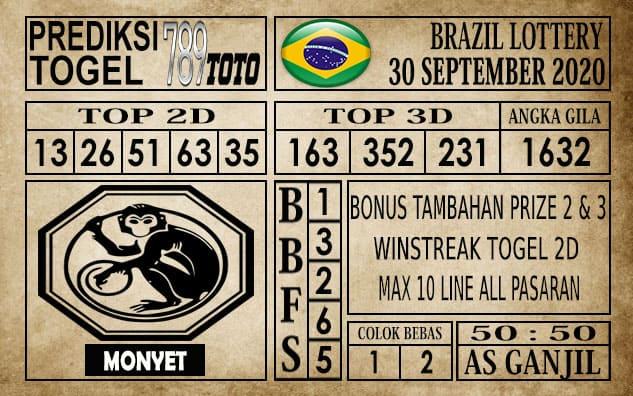 Prediksi Brazil Lottery Hari Ini 30 September 2020