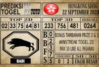 Prediksi Hongkong Siang Hari Ini 22 September 2020