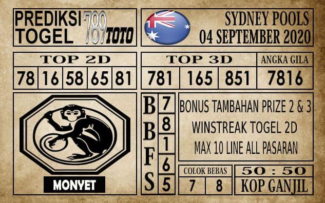 Prediksi Sydney Pools Hari Ini 04 September 2020