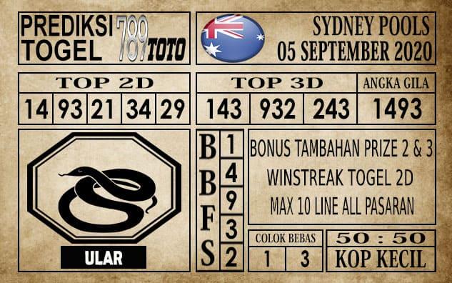 Prediksi Sydney Pools Hari Ini 05 September 2020