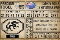 Prediksi Sydney Pools Hari Ini 19 September 2020