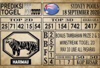 Prediksi Sydney Pools Hari Ini 18 September 2020