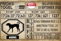 Prediksi Singapore Pools Hari ini 19 September 2020