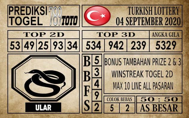 Prediksi Turkish Lottery Hari Ini 04 September 2020