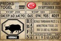 Prediksi Turkish Lottery Hari Ini 19 September 2020