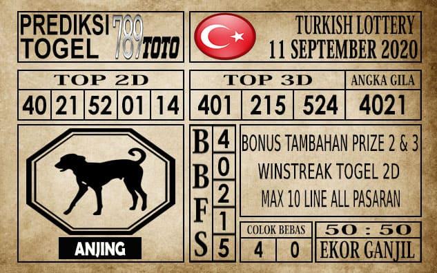 Prediksi Turkish Lottery Hari Ini 11 September 2020