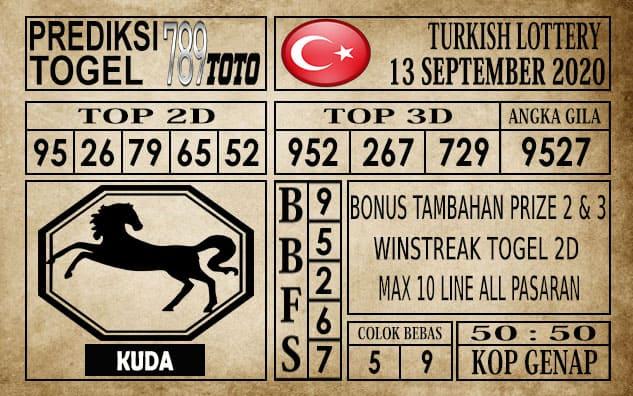 Prediksi Turkish Lottery Hari Ini 13 September 2020