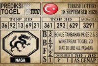 Prediksi Turkish Lottery Hari Ini 18 September 2020