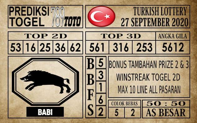 Prediksi Turkish Lottery Hari Ini 27 September 2020
