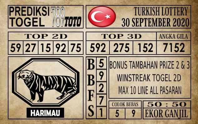 Prediksi Turkish Lottery Hari Ini 30 September 2020