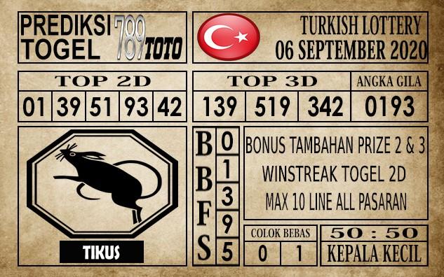 Prediksi Turkish Lottery Hari Ini 06 September 2020