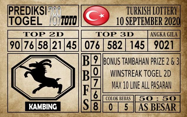 Prediksi Turkish Lottery Hari Ini 10 September 2020