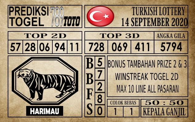 Prediksi Turkish Lottery Hari Ini 14 September 2020