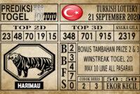Prediksi Turkish Lottery Hari Ini 21 September 2020