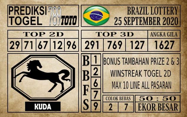 Prediksi Brazil Lottery Hari Ini 25 September 2020