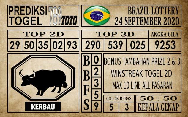 Prediksi Brazil Lottery Hari Ini 24 September 2020