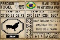 Prediksi Brazil Lottery Hari Ini 07 September 2020