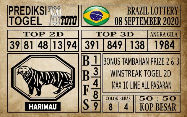 Prediksi Brazil Lottery Hari Ini 08 September 2020