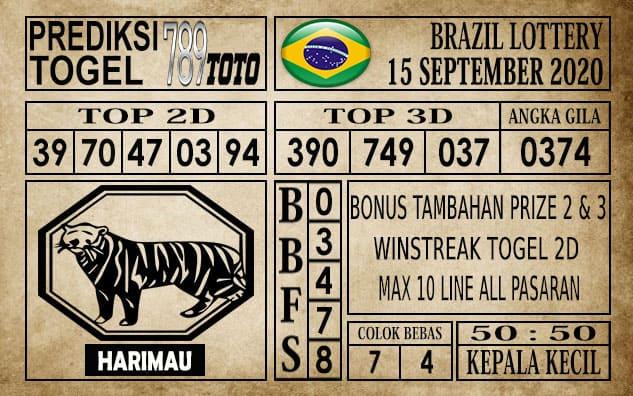 Prediksi Brazil Lottery Hari Ini 15 September 2020