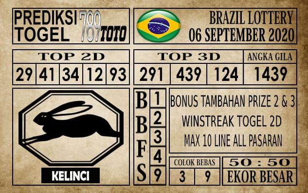 Prediksi Brazil Lottery Hari Ini 06 September 2020
