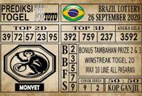 Prediksi Brazil Lottery Hari Ini 26 September 2020