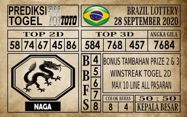 Prediksi Brazil Lottery Hari Ini 28 September 2020