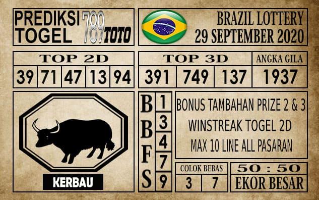Prediksi Brazil Lottery Hari Ini 29 September 2020