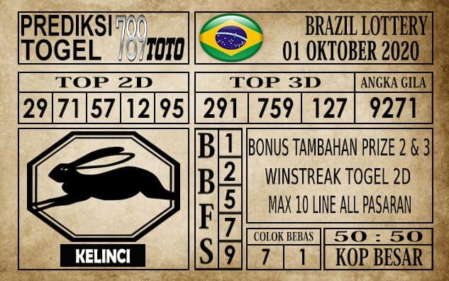 Prediksi Brazil Lottery Hari Ini 01 Oktober 2020