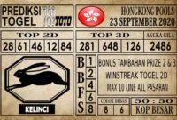 Prediksi Hongkong Pools Hari Ini 23 September 2020