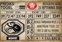 Prediksi Hongkong Siang Hari ini 25 September 2020
