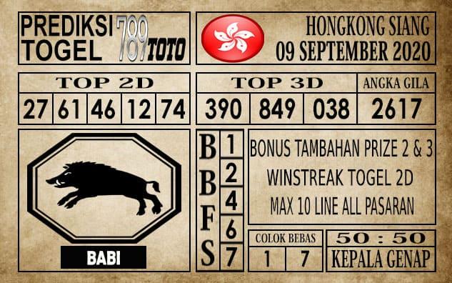 Prediksi Hongkong Siang Hari ini 09 September 2020