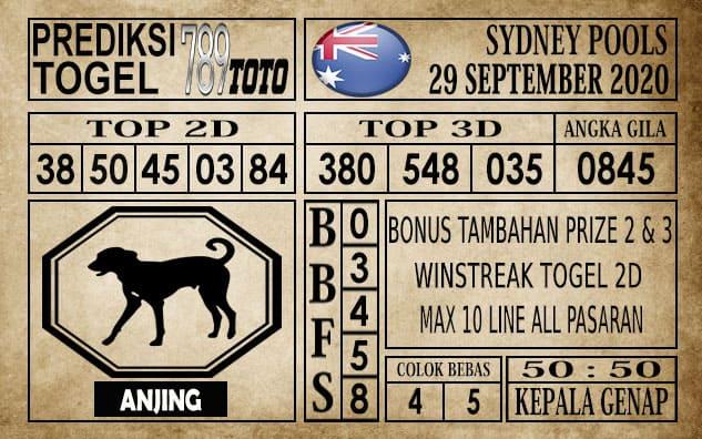 Prediksi Sydney Pools Hari ini 29 September 2020