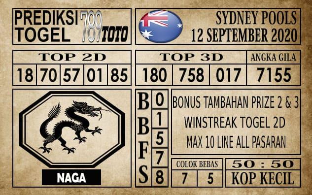 Prediksi Sydney Pools Hari ini 12 September 2020