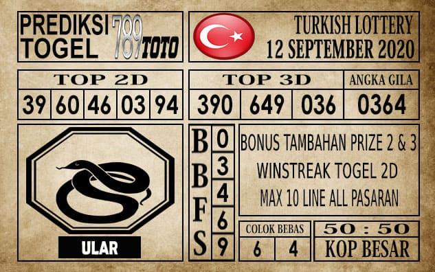 Prediksi Turkish Lottery Hari ini 12 September 2020