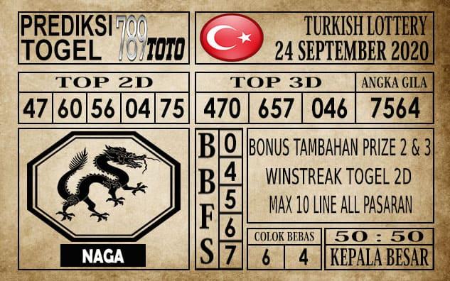 Prediksi Turkish Lottery Hari ini 24 September 2020
