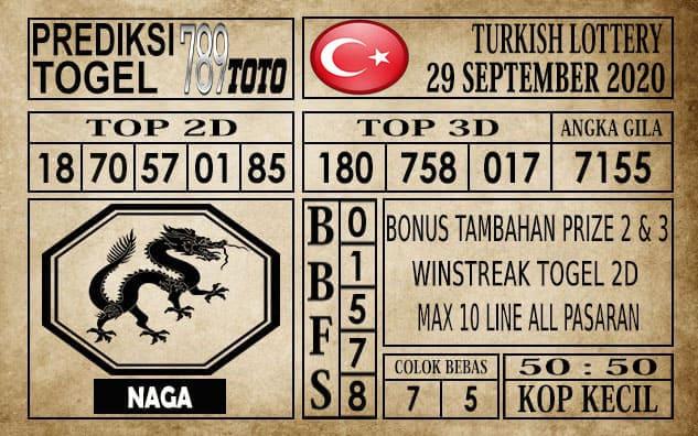 Prediksi Turkish Lottery Hari ini 29 September 2020