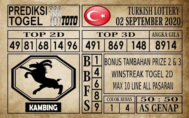 Prediksi Turkish Lottery Hari ini 02 September 2020